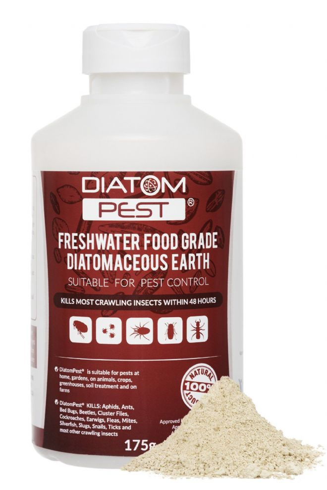 Diatompest Diatomaceous Earth organic insect killing Powder (200g)